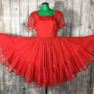 Vintage Audrey Coleman Red Square Dancing Dress